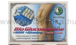 Dr. Chen Bio glucosamine + MSM + ginseng forte tabletta (40 db)