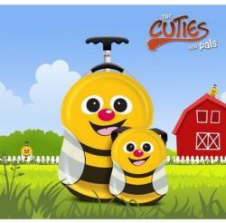 Cuties&Pals Ghiozdan si valiza tip trolley Cazbi the Bee Cuties Pals (CU-CAZBI-SET) Geanta voiaj