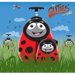 Cuties&Pals Ghiozdan si valiza tip trolley Polka the Ladybird Cuties Pals (CU-POLKA-SET) Geanta voiaj