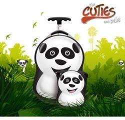Cuties&Pals Ghiozdan si valiza tip trolley Cheri the Panda Cuties Pals (CU-CHERI) Geanta voiaj
