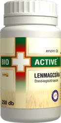 Bio+ Active Lenmagcsíra kapszula (250 db)