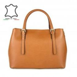 2bf066d7ac Vásárlás: Made in Italy Elegáns bőr kézitáska Fina - konyak barna ...