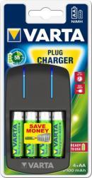 VARTA Elem akkumulátor töltő - VARTA Easy Energy Plug Charger + 4 db AA ceruza 2100 mAh tölthető akku (57647101451) - autoakku24
