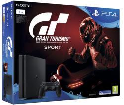 Sony PlayStation 4 Slim Jet Black 1TB (PS4 Slim 1TB) + Gran Turismo Sport