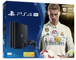Sony PlayStation 4 Pro Jet Black 1TB (PS4 Pro 1TB) + FIFA 18