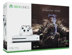 Microsoft Xbox One S (Slim) 1TB + Middle-Earth Shadow of War