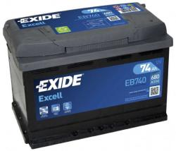 Exide Excell EB740 74Ah 680A Jobb+ (EB740)