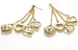 Storm London Дамски обици STORM Multi Heart Gold - 9980312GD