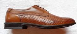 Marco Battisti Pantofi eleganti barbati - piele naturala Davy marca Marco Battisti maro cognac