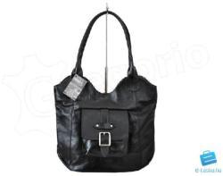 VOYAGER fekete Valódi bőr Valódi bőr női táska (h_233_1_1)