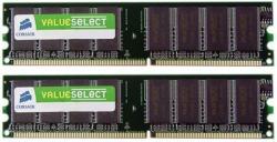 Corsair 1GB (2x512MB) DDR 400MHz VS1GBKIT400