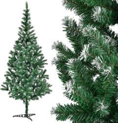[en. casa] [en. casa]® Brad de Craciun artificial verde cu zapada - 210 cm