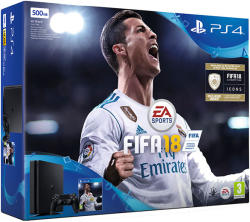 Sony PlayStation 4 Slim Jet Black 500GB (PS4 Slim 500GB) + FIFA 18