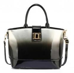 Anna Grace Elegáns lakk táska Cassandra - ezüst