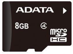 ADATA MicroSDHC 8GB Class 4 AUSDH8GCL4-RA1