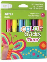 "APLI Tempera stift készlet, toll alakú, APLI ""Kids"", 6 különböző fl..."