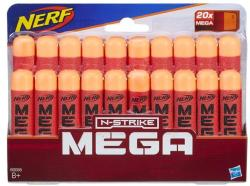 Hasbro Gloante de spuma Nerf N-Strike Mega Dart 20 buc. (B0085)