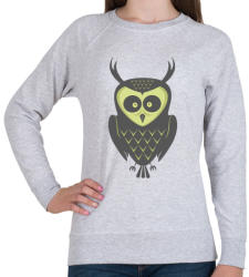 printfashion Őszi bagoly - Női pulóver - Sport szürke