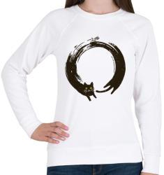 printfashion ZEN kör - enszó - Női pulóver - Fehér