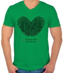 printfashion Szerelem pecsétje - Férfi V-nyakú póló - Zöld