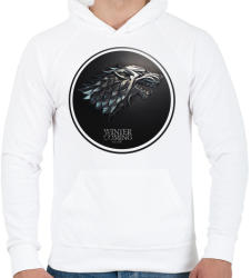 printfashion Trónok harca: Stark ház - Férfi kapucnis pulóver - Fehér