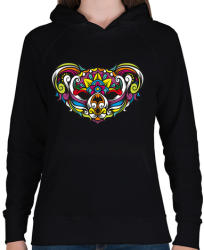 printfashion Koala - Női kapucnis pulóver - Fekete