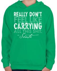 printfashion Karácsonyi ajándék - Gyerek kapucnis pulóver - Zöld