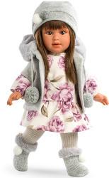 Llorens Martina baba virágos ruhában - 40 cm
