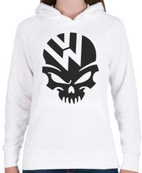 printfashion Volkswagen Skull - Női kapucnis pulóver - Fehér