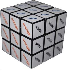 Rubik Culoare text Cube