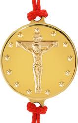 Macoins Gold Златна гривна Исус Христос на кръста