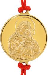 Macoins Gold Златна гривна Света Богородица с младенеца