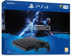 Sony PlayStation 4 Slim Jet Black 1TB (PS4 Slim 1TB) + Star Wars Battlefront II