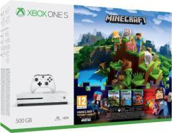 Microsoft Xbox One S (Slim) 500GB + Minecraft Complete Adventure