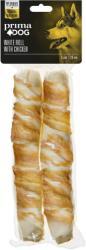 PRIMA PET PREMIUM Финландия - Finland Prima Dog White Roll with chicken - лакомство от обработена сурова кожа, увито с пилешко филе, за здрави зъби и венци 25 см. , 2 броя (stef 10051 Prima Dog White Roll with chicken 25 см 2 броя)