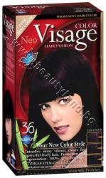 Боя за коса Visage Fashion Permanent Hair Color, 36 Aubergine, p/n VI-206036 - Трайна крем-боя за коса, патладжан (VI-206036)