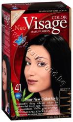 Боя за коса Visage Fashion Permanent Hair Color, 41 Black, p/n VI-206041 - Трайна крем-боя за коса, черна (VI-206041)
