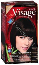 Боя за коса Visage Fashion Permanent Hair Color, 21 Dark Auburn, p/n VI-206021 - Трайна крем-боя за коса, тъмно кестенява (VI-206021)