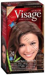 Боя за коса Visage Fashion Permanent Hair Color, 24 Milk Chocolate, p/n VI-206024 - Трайна крем-боя за коса, млечен шоколад (VI-206024)
