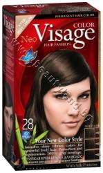 Боя за коса Visage Fashion Permanent Hair Color, 28 Ash Brown, p/n VI-206028 - Трайна крем-боя за коса, пепелно кафява (VI-206028)