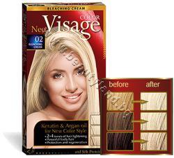 Боя за коса Visage Fashion Permanent Hair Color, 02 Luminous Cream, p/n VI-206002 - Трайна крем-боя за коса, осветляващ крем (VI-206002)