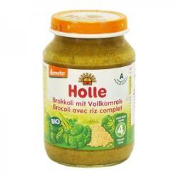Holle Bio brokkoli teljes rizzsel 4 hónapos kortól - 190g