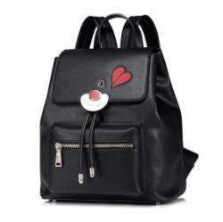 NUCELLE Szívecskés fekete hátizsák - Kiss
