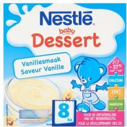 Nestlé Baby Dessert (8hó+) 4x100g Vanília ízű babapuding