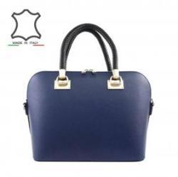 7b1a9d493e8b Vásárlás: Made in Italy Merevfalú bőrtáska Cleo - sötétkék Női táska ...