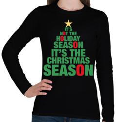 printfashion Karácsonyi szezon - Női hosszú ujjú póló - Fekete