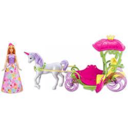 Mattel Barbie - Dreamtopia - Hintó Pegazussal és Barbie babával (DYX31)