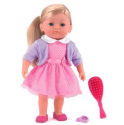 Dolls World Charlotte kifesthető és fésülhető puha baba - 36 cm