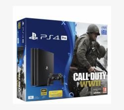 Sony PlayStation 4 Pro Jet Black 1TB (PS4 Pro 1TB) + Call of Duty WWII