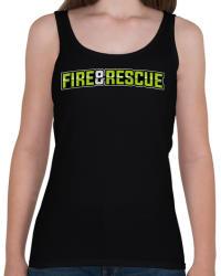 printfashion Fire and Rescue - Női atléta - Fekete